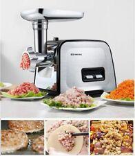 220V Stainless Electric Meat Grinder Sausage Stuffer Food Mincer Home Commercial