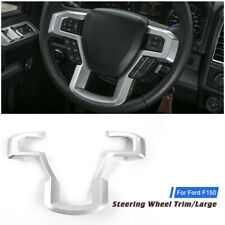 1x Silver Inner Car Steering Wheel Moulding Frame Cover Trim For Ford F150 2015+