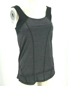 LULULEMON - WOMEN'S SIZE 6 - BLACK BUILT IN BRA YOGA FITNESS ACTIVEWEAR TOP