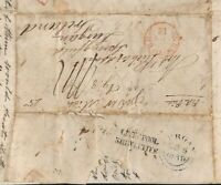 GB LETTER Liverpool Ship Letter Ref Attacked 1838 {samwells-covers} MS1793