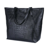 Designer Large Womens Leather Style Tote Shoulder Bag Ladies Handbag QA