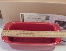 Longaberger Baskets Wt Pottery Tomato Red Loaf Baking Dish / Sm Casserole Mib