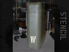 stencil pochoir jerrycan jerrican water eau 9 us jeep WILLYS GPW WW2