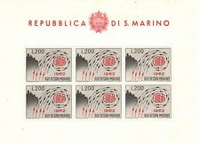 SAN MARINO 1962 Foglietto Europa MNH**