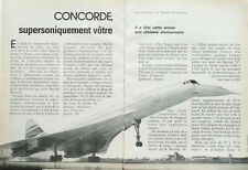 Article papier 6 pages AVIATION PLANE CONCORDE décembre 1986 P1028696