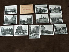 Vintage 12 x Small Real Photograph Snapshots in Folder, Rotterdam, Netherlands,