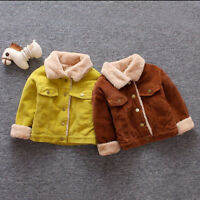 AB Kids Baby Girls Boys Winter Solid Retro Coat Cloak Jacket Thick Outerwear