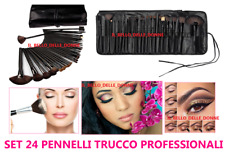 SET 24 PENNELLI PROFESSIONALI MAKE UP TRUCCO SPOSA VISAGISTA ESTETICA DA BORSA
