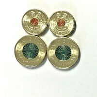 2020 $2 coins Firefighters x 2 Donation Dollar $1.00 x 2, 4 coins TRACKED POST