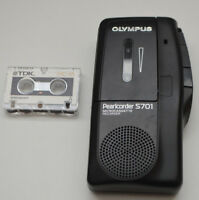DICTAPHONE OLYMPUS PEARLCORDER S701 MICROCASSETTE VOICE RECORDER FULLY WORKING