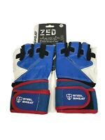 Steel Sweat Workout Gloves Zed Leather Lifting Gloves With Wrist Wrap XXL New