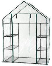 Walk in Greenhouse PVC Plastic Garden Grow Green House With 8 Shelves UK