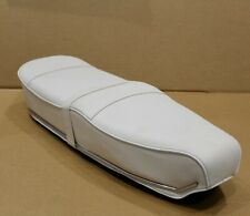 Lambretta PEGASUS Style Seat in WHITE Stainless Trim