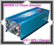DE~24000W/6000W LF Pure Sine Wave Power Inverter 24V DC/230V AC LCD/UPS/Charger