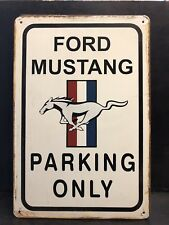 FORD MUSTANG PARKING METAL SIGN VINTAGE STYLE WALL DECOR GARAGE 16x12 CM