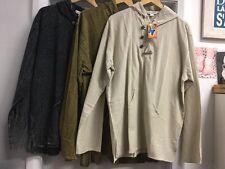 New Men's Cotton L/Sleeve Boho Hippie Hooded Jacket