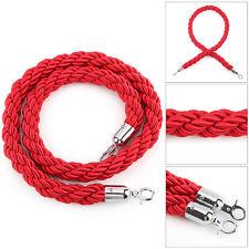 Barrera de alta calidad 1.5 M Trenzado Cuerda Cola Trenzado Negro Rojo Para