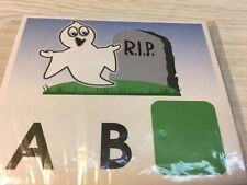 Halloween Ghost - Missing Letters- Dry Erase - Laminated Activity Set - Teaching