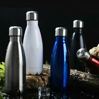 LOT 2019 NEW Double Wall 500ml Vacuum Insulated Water Bottle  Stainless Steel BT