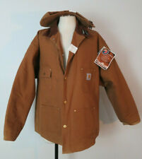 Carhartt Traditional Duck Brown Canvas Barn Coat Jacket Blanket Lining 54R NWD