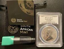 2017 S.A 1oz Ag Krugerrand SP70 UV Label 1 of 1000, 1st YR 50th Privy Mark COA
