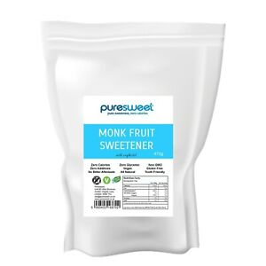 Puresweet Monk Fruit Sweetener 470g, Zero Calories, No Bitter Aftertaste.