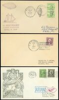 1933-34 LOT/3 Different USS AKRON DISASTER Memorial, In Memoriam Covers, SCV $25