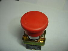 TELEMECANIQUE ZB2 SERIES RED PUSH-TWIST (E-STOP) SWITCH N.C. CONTACT