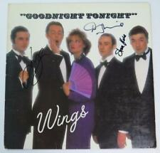 "PAUL McCARTNEY & WINGS Signed Autograph ""Goodnight Tonight"" Album Vinyl LP by 3"