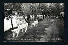 Worthington Minnesota Mn c1939 Rppc Lake Okabena Chautauqua Park, Cars, Shelter