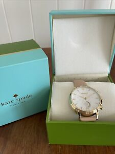 Kate Spade Gold Pink Leather Band Smart Watch New In Box!