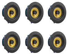 """6 Pack - TDX 6.5"""" 2-Way Ceiling Wall Home Theater Speaker Flush Mount White New"""