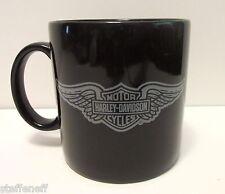 Harley Davidson Motorcycles Logo Black Coffee Mug Big Large