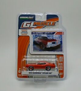 Greenlight 1972 Oldsmobile Flamme Orange Muscle Voiture & Cartes à Collectionner