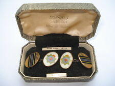 C1950S VINTAGE R.A.S.C.(ROYAL ARMY SERVICE CORPS)SOPHOS HAND ENAMELLED CUFFLINKS