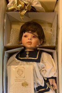 """""""Jolie"""" Fayzah Spanos Baby Girl Sailor Doll ~ 24"""" Porcelain Doll (637/2000)"""