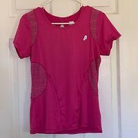 Penn Sport Pink Workout yoga Running Vent Mesh Tennis Golf Athletic Shirt Top XS