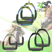 YNR® Flexi Safety Stirrups Horse Riding Bendy Irons For Equestrian Saddles Tack