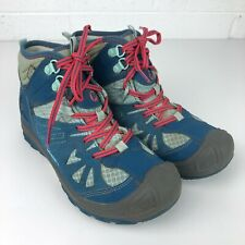 Merrell Hiking Boots Youth Size 5 'Capra Mid' Waterproof Select Dry Blue