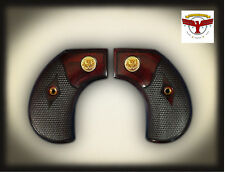 RUGER BIRDSHEAD NEW AND OLD VAQUERO OXBLOOD GRIPS ; GOLD LIBERTY BIRDS HEAD
