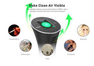 DEME-PureVIS Air Monitoring Purifier (Black)  Ionic, Odor Reduction, Kill Virus