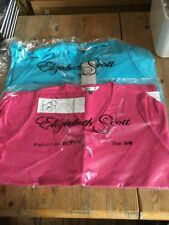 BRAND NEW 2 x Elizabeth Scott TShirts Size S/M Pink and Turquoise/Blue