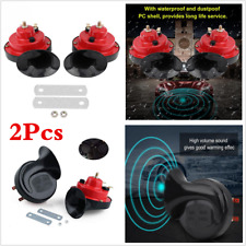2pcs Car Truck Loud Dual-tone Snail Horn Universal Electric Air Horn 12V 105 dB