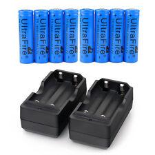 8pcs 18650 Battery 5000mAh Li-ion 3.7V Rechargeable Batteries +2X Dual Charger
