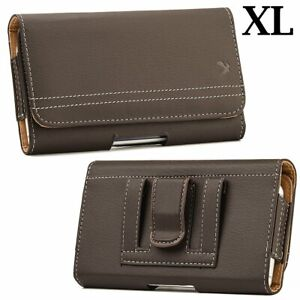 For Samsung Galaxy A51 5G -Brown Leather Belt Clip Horizontal Pouch Holster Case