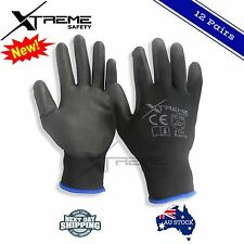 PU Coated Xtreme Safety Gloves Work Gloves Hand Protection 12 Pairs Size M,L,XL
