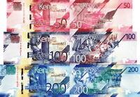 KENIA - Kenya Lotto 3 banconote 50/100/200 shilingi 2019 FDS - UNC