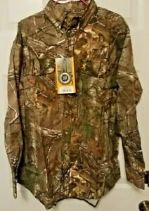 Browning RealTree Xtra Camo Wasatch Button Up Shirt Hunting Size Medium
