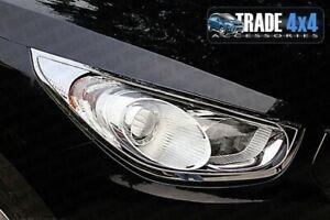 HYUNDAI IX35 HEADLIGHT COVERS SURROUNDS TRIM 2010+ CHROME EFFECT HEAD LAMP TRIMS