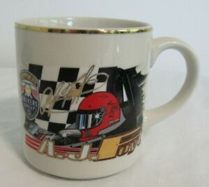 Vintage A.J. Foyt Gold Mug Racing Championship Drivers Group AJ Nascar Indy 500